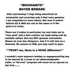 Before you purchase a moissanite